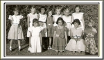 JUDY'S 9TH BIRTHDAY PARTY   ...?, JEANNE LILLYWHITE, SUSAN SIMMONS, KATHY KELLY(64), FAY ALLDREDGE, BARBARA SATO, LINDA