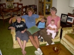 MARY ANDERSON CROMWELL  WITH GRANDKIDS