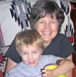 MARILYN JAMES PERSHING  AND GRANDSON MATTHEW
