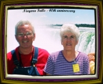 MEL BOWERS AND WIFE   IN NIAGRA fALLS FOR  THEIR 40TH ANNIVERSARY