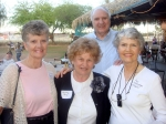 Connie Kirchoff, Beverly Ray, Larry Klingler (Fay's husband), and Fay Alldredge