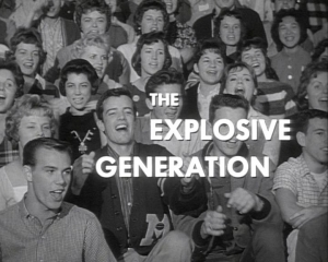 I was one of the extras in a movie called 'The Explosive Generation'    starring William Shatner. (1962)    As you pro
